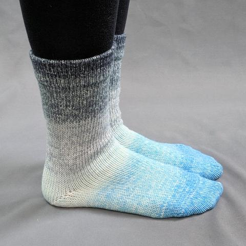 Knitcircus Yarns: April Skies Panoramic Gradient Matching Socks Set, dyed to order yarn