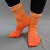 Knitcircus Yarns: Orange You Glad Chromatic Gradient Matching Socks Set (large), Greatest of Ease, ready to ship yarn