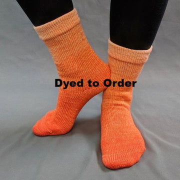 Knitcircus Yarns: Orange You Glad Chromatic Gradient Matching Socks Set, dyed to order yarn