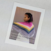 Pattern - Technicolor Extravaganza Shawl, by Jaala Spiro, ready to ship - SALE