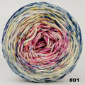 Knitcircus Yarns: Easy Peasy Lemon Squeezy 100g Impressionist Gradient, Divine, choose your cake, ready to ship yarn