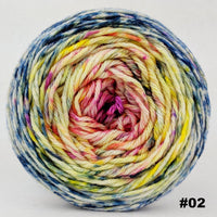 Knitcircus Yarns: Easy Peasy Lemon Squeezy 150g Impressionist Gradient, Ringmaster, choose your cake, ready to ship yarn