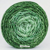 Knitcircus Yarns: Mint Festival Chromatic Gradient, dyed to order yarn