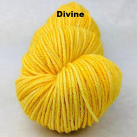 Knitcircus Yarns: Dizzying Intellect Kettle-Dyed Semi-Solid skeins, dyed to order yarn
