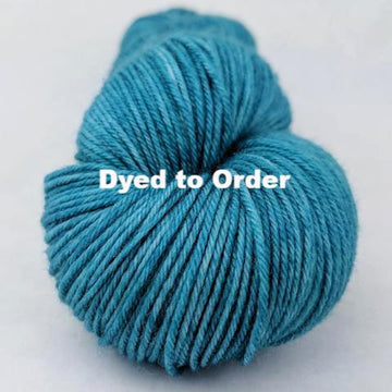 Knitcircus Yarns: Teal Magnolias Kettle-Dyed Semi-Solid skeins, dyed to order yarn