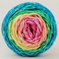 Knitcircus Yarns: Cindy Lou Who 50g Panoramic Gradient, Ringmaster, ready to ship yarn
