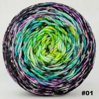 Knitcircus Yarns: Electric Mayhem 100g Impressionist Gradient, Divine, choose your cake, ready to ship yarn