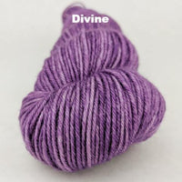 Knitcircus Yarns: Purple Palace Kettle-Dyed Semi-Solid skeins, dyed to order yarn