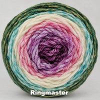 Knitcircus Yarns: Pocket Full Of Posies Panoramic Gradient, dyed to order yarn