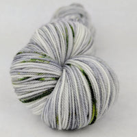 Knitcircus Yarns: Blarney Stone 100g Speckled Handpaint skein, Trampoline, ready to ship yarn
