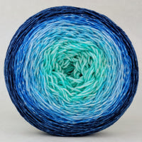 Knitcircus Yarns: Chance of Flurries 150g Panoramic Gradient, Greatest of Ease, ready to ship yarn