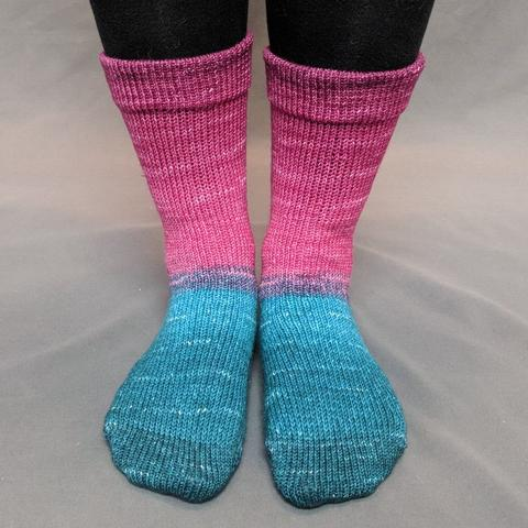 As You Wish Panoramic Gradient Matching Socks Set (medium), Opulence, ready to ship - SALE
