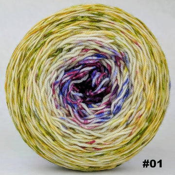 Knitcircus Yarns: Happy Happy Joy Joy 100g Impressionist Gradient, Trampoline, choose your cake, ready to ship yarn