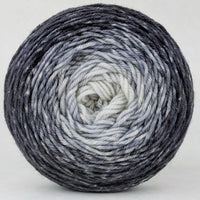 Knitcircus Yarns: Shades of Gray 100g Chromatic Gradient, Divine, ready to ship yarn