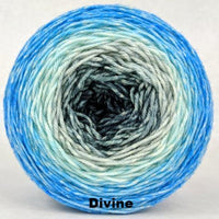 Knitcircus Yarns: April Skies Panoramic Gradient, dyed to order yarn