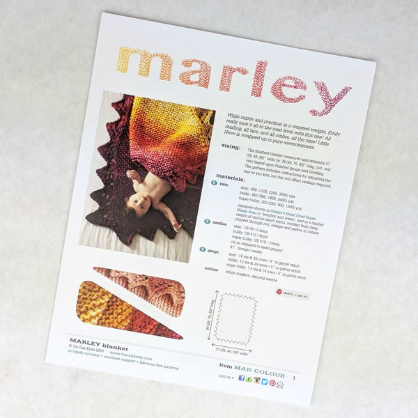 Pattern - Marley Blanket, by Tin Can Knits, ready to ship - SALE