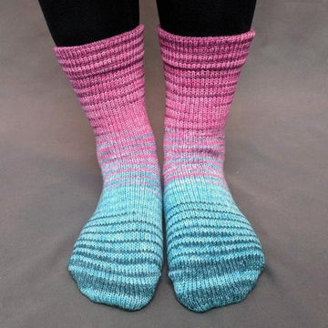 Knitcircus Yarns: As You Wish Gradient Stripes Matching Socks Set (medium), Greatest of Ease, ready to ship yarn - SALE