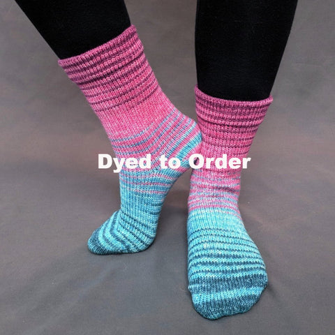 As You Wish Gradient Striped Matching Socks Set, dyed to order