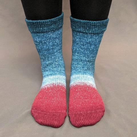 Knitcircus Yarns: Birds of a Feather Panoramic Gradient Matching Socks Set, dyed to order yarn