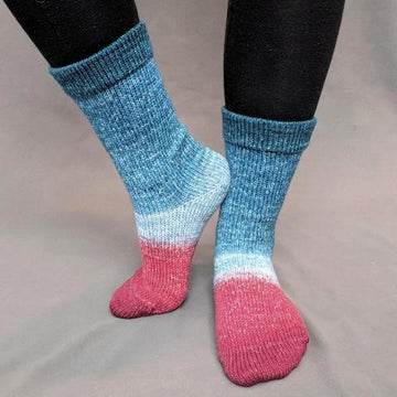 Knitcircus Yarns: Birds of a Feather Panoramic Gradient Matching Socks Set (medium), Greatest of Ease, ready to ship yarn