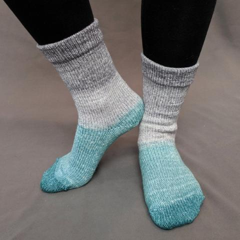 Knitcircus Yarns: Believe in Miracles Panoramic Gradient Matching Socks Set (large), Trampoline, ready to ship yarn