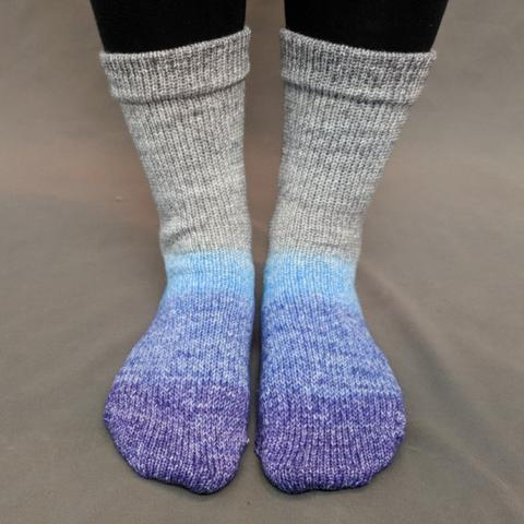 Knitcircus Yarns: Kindness is Everything Panoramic Gradient Matching Socks Set (medium), Greatest of Ease, ready to ship yarn