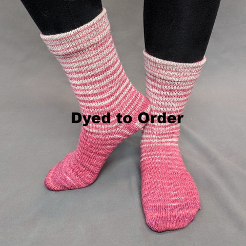 Be Still My Heart Gradient Striped Matching Socks Set, dyed to order