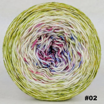 Knitcircus Yarns: Happy Happy Joy Joy 150g Impressionist Gradient, Greatest of Ease, choose your cake, ready to ship yarn