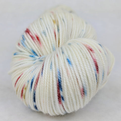 Mischief Managed 100g Speckled Handpaint skein, Trampoline, ready to ship
