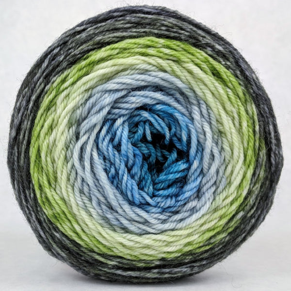 Knitcircus Yarns: Growing Like A Weed 100g Panoramic Gradient, Divine, ready to ship yarn