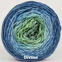 Knitcircus Yarns: Beach Glass Panoramic Gradient, dyed to order yarn