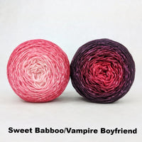 Knitcircus Yarns: Chromatic Pair Sets, Trampoline, choose your color and size, dyed to order yarn
