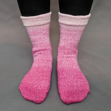 Knitcircus Yarns: A Rose By Any Other Name Chromatic Gradient Matching Socks Set (large), Greatest of Ease, ready to ship yarn