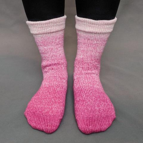 A Rose by Any Other Name Chromatic Gradient Matching Socks Set (large), Opulence, ready to ship