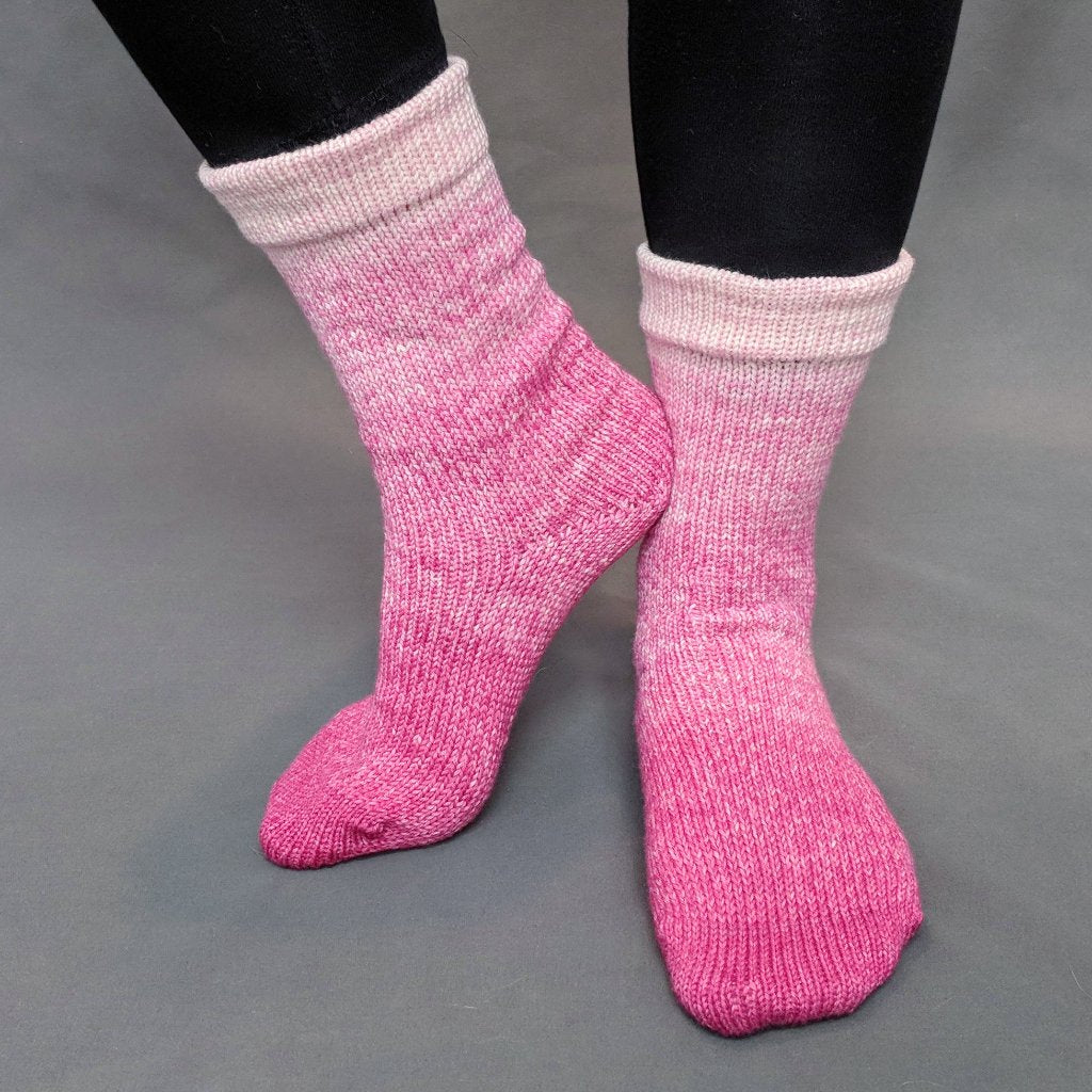 A Rose by Any Other Name Chromatic Gradient Matching Socks Set (medium), Greatest of Ease, ready to ship