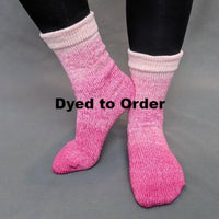 Knitcircus Yarns: A Rose by Any Other Name Chromatic Gradient Matching Socks Set, dyed to order yarn