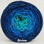 Knitcircus Yarns: Under The Sea Chromatic Gradient, dyed to order yarn