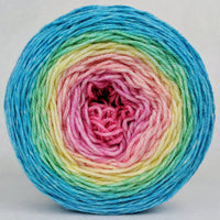 Knitcircus Yarns: Cindy Lou Who 100g Panoramic Gradient, Parasol, ready to ship yarn