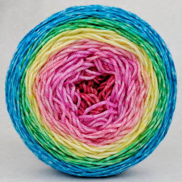 Knitcircus Yarns: Cindy Lou Who 100g Panoramic Gradient, Divine, ready to ship yarn