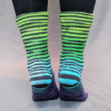 Electric Mayhem Extreme Striped Matching Socks Set, dyed to order