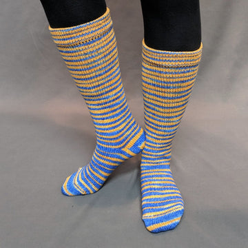Knitcircus Yarns: Brew Crew Gradient Striped Matching Socks Set (Large), Greatest of Ease, ready to ship yarn