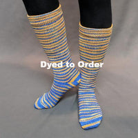 Knitcircus Yarns: Brew Crew Gradient Striped Matching Socks Set, dyed to order yarn