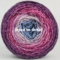 Knitcircus Yarns: Paris is Always a Good Idea Panoramic Gradient, dyed to order yarn