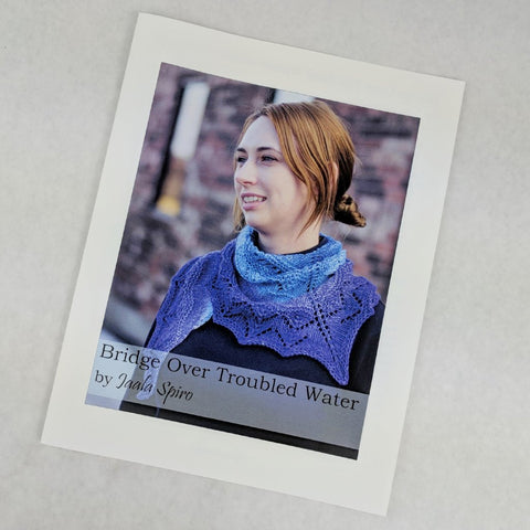 Pattern - Bridge Over Troubled Water Shawl, by Jaala Spiro, ready to ship