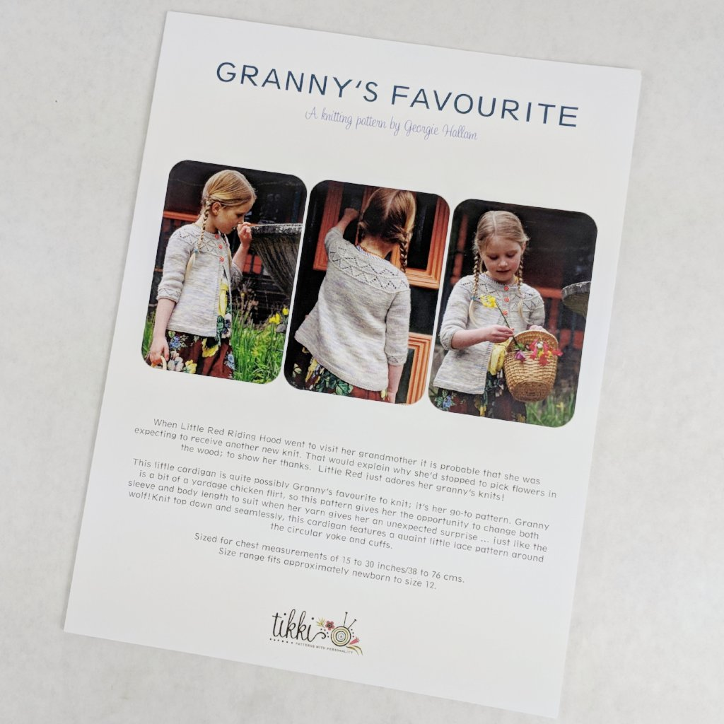 Pattern - Granny's Favourite Children's Cardigan, by Georgie Hallam, ready to ship