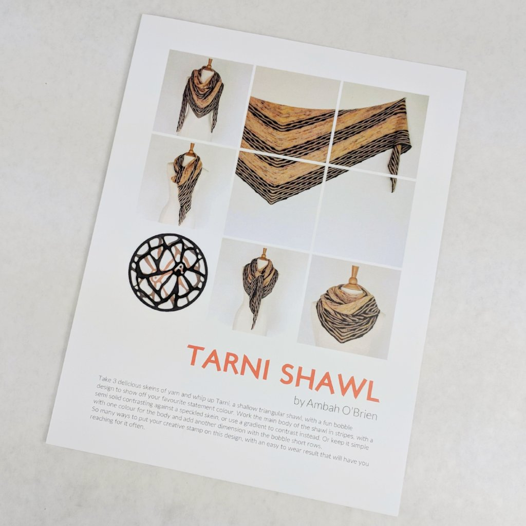 Pattern - Tarni Shawl, by Ambah O'Brien, ready to ship