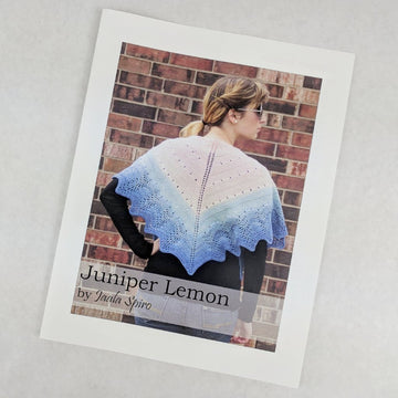 Pattern - Juniper Lemon Shawl, by Jaala Spiro, ready to ship
