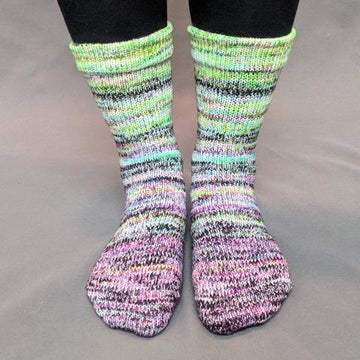 Knitcircus Yarns: Electric Mayhem Impressionist Matching Socks Set (medium), Greatest of Ease, choose your cakes ready to ship yarn
