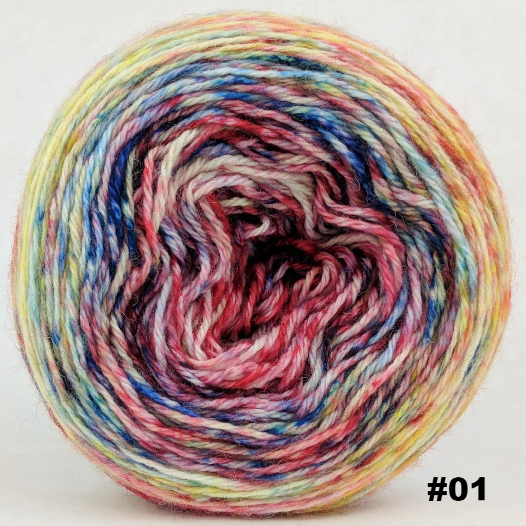 Pippi Longstocking 100g Impressionist Gradient, Corriedale, choose your cake, ready to ship