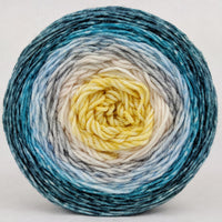 Knitcircus Yarns: Sea of Tranquility 100g Panoramic Gradient, Greatest of Ease, ready to ship yarn